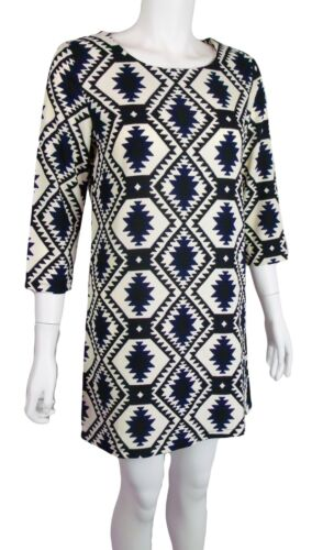 New Tribal Aztec Print 3//4 Sleeve Mini Tunic Dress UK 8 10 12 14 Top Party Celeb