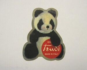 Vecchio adesivo anni 80 old sticker peluches trudi panda cm 7 x