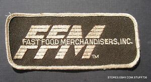 FAST-FOOD-MERCHANDISER-EMBROIDERED-SEW-ON-PATCH-FFM-ADVERTISING-4-3-4-034-x-2-034