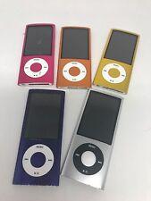 Lot of (5) Apple iPod nano 5th Generation Nanos-Various Colors