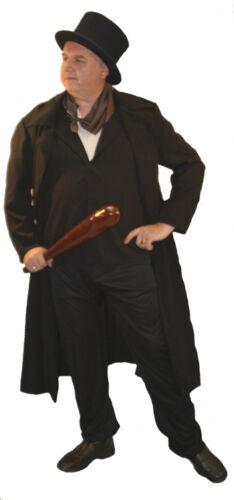 Fancy Dress Costume All Plus sizes TV-Victorian-Mens-Villain-Stage BASHER COAT