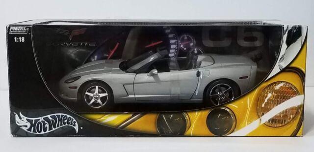 Hot Wheels 1 18 Chevrolet Corvette C6 Convertible Silver Ebay