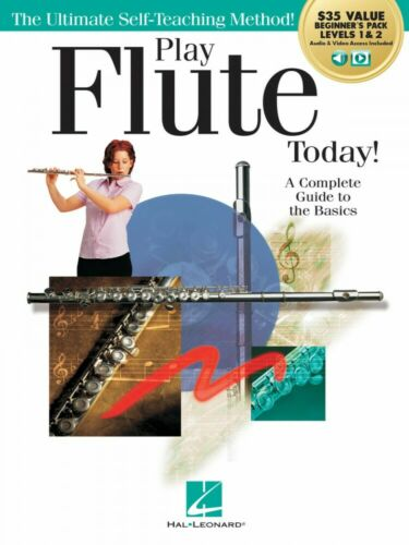 Play Flute Today Beginner/'s Pack Level 1 and 2 Method Book with Audio 000293929
