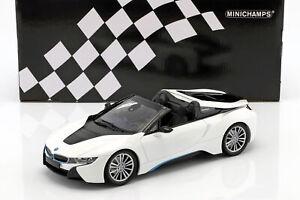 BMW-I8-Roadster-I15-Baujahr-2018-weis-metallic-1-18-Minichamps