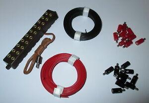 Stecker-2-6mm-Litzen-und-Verteilerleiste-mit-Stecker-NEU-Farbwahl-moeglich