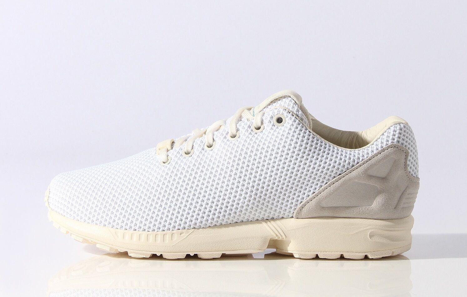 Adidas Originals ZX Flux White Textile Men's Trainers shoes UK 7.5_8.5_9