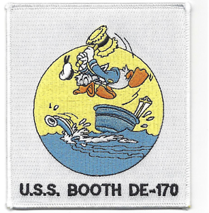 """5/"""" USS NAVY BOOTH DE-170 DESTROYER DONALD DUCK EMBROIDERED PATCH"""