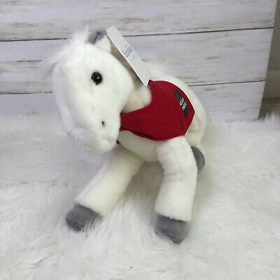 """Legendary Wells Fargo Plush /""""Mollie/"""" Rose Bowl Horse w Scarf NEW Pony with tags"""