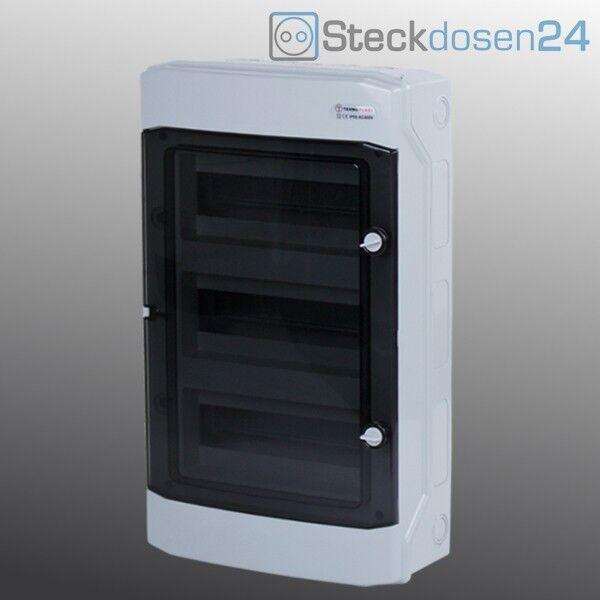 Feuchtraum Sicherungskasten 36 Module Aufputz IP65 Grüneilerkasten   eine breite Palette von Produkten