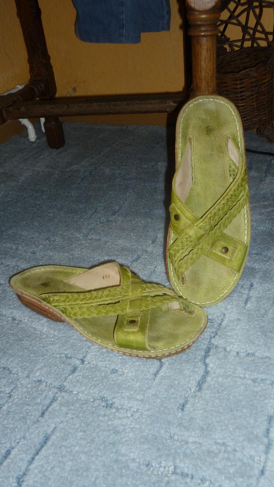 El Schlappen, Naturalista Leder- Pantolette, Schlappen, El Sandalen,Sandaletten Gr.38 wie NEU b53eec
