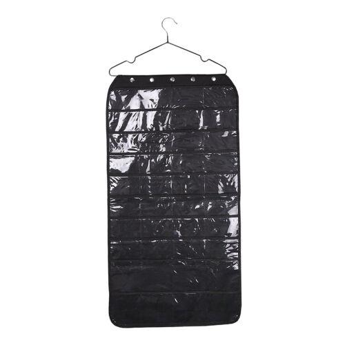 Travel Fold Up Toiletry Bag Makeup Jewelry Sundries Organizer Pockets Black