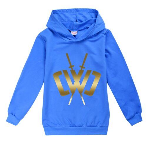 UK New  Kids Casual Hoodie Sweatshirt Pullover Long Sleeve Jumper