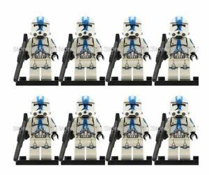 CLONE-TROOPER-ARMY-STAR-WARS-CUSTOM-Lego-MINI-FIGURE-501ST-ARMY-8-MINIFIGURES
