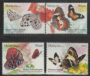 378-MALAYSIA-2008-BUTTERFLIES-OF-MALAYSIA-SET-FRESH-MNH