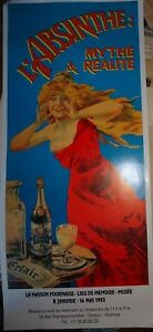 GRANDE-AFFICHE-POSTER-ABSINTHE-FEE-VERTE-ALCOOL-ART-NOUVEAU-EDOUARD-PERNOD-1993