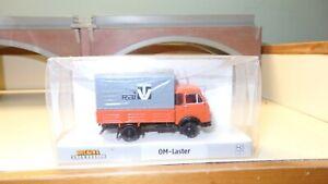 Brekina-OM-Lupetto-arancione-con-telone-grigio-RAI-TV-HO-1-87-Edizione-Limitata