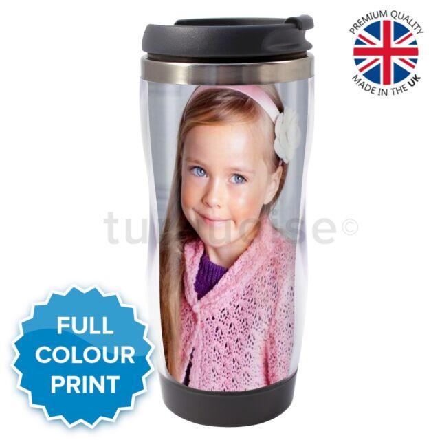 Personalised Custom Photo Gift Thermal Mug Coffee Tea Travel Flask Cup