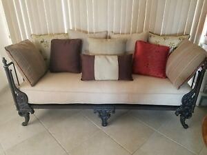 Details About Wrought Iron Century Furniture Ind Sofa Day Bed Couch