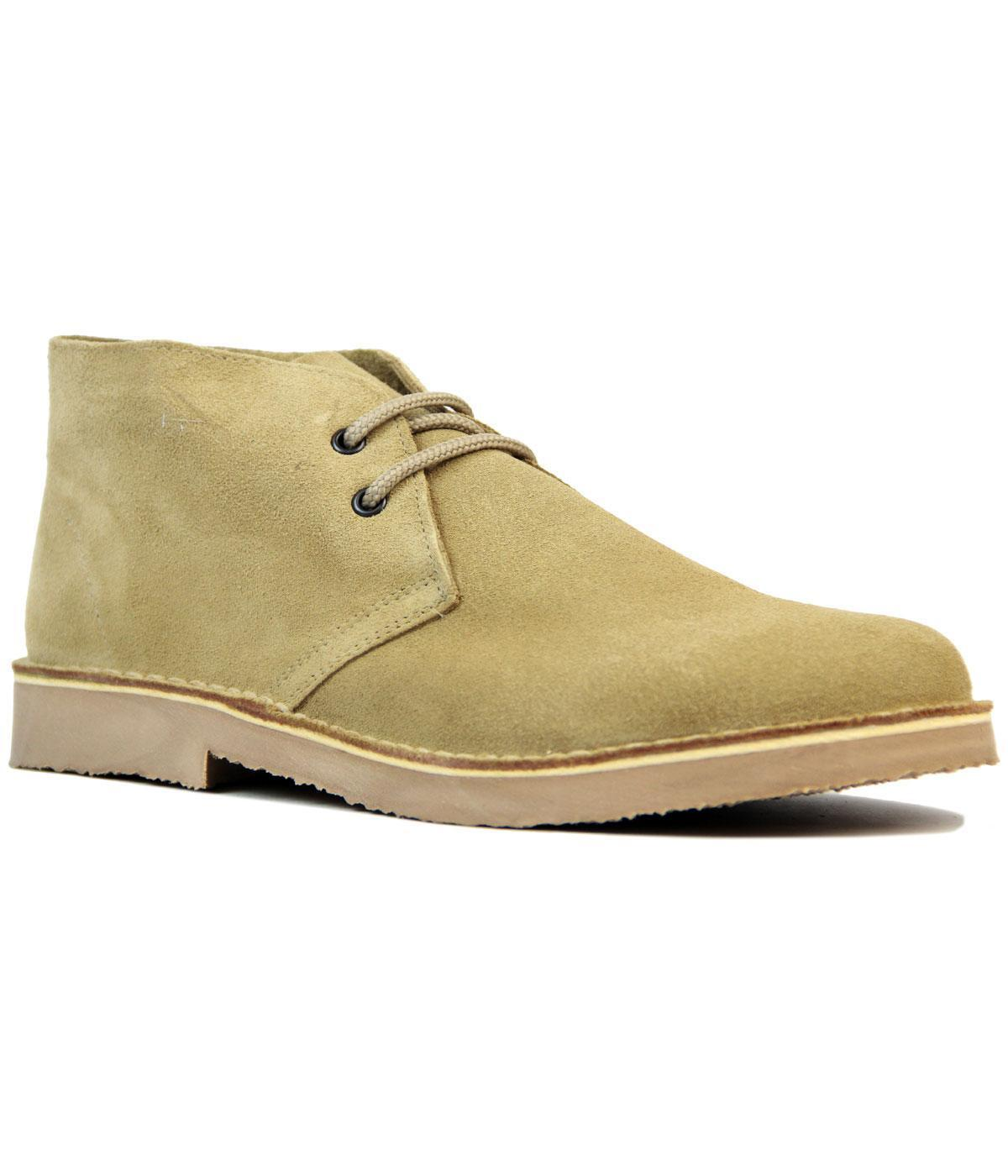 NEW MOD RETRO SIXTIES MENS DESERT Desert BOOTS CAMEL Taupe Suede M400TS RACK 14D