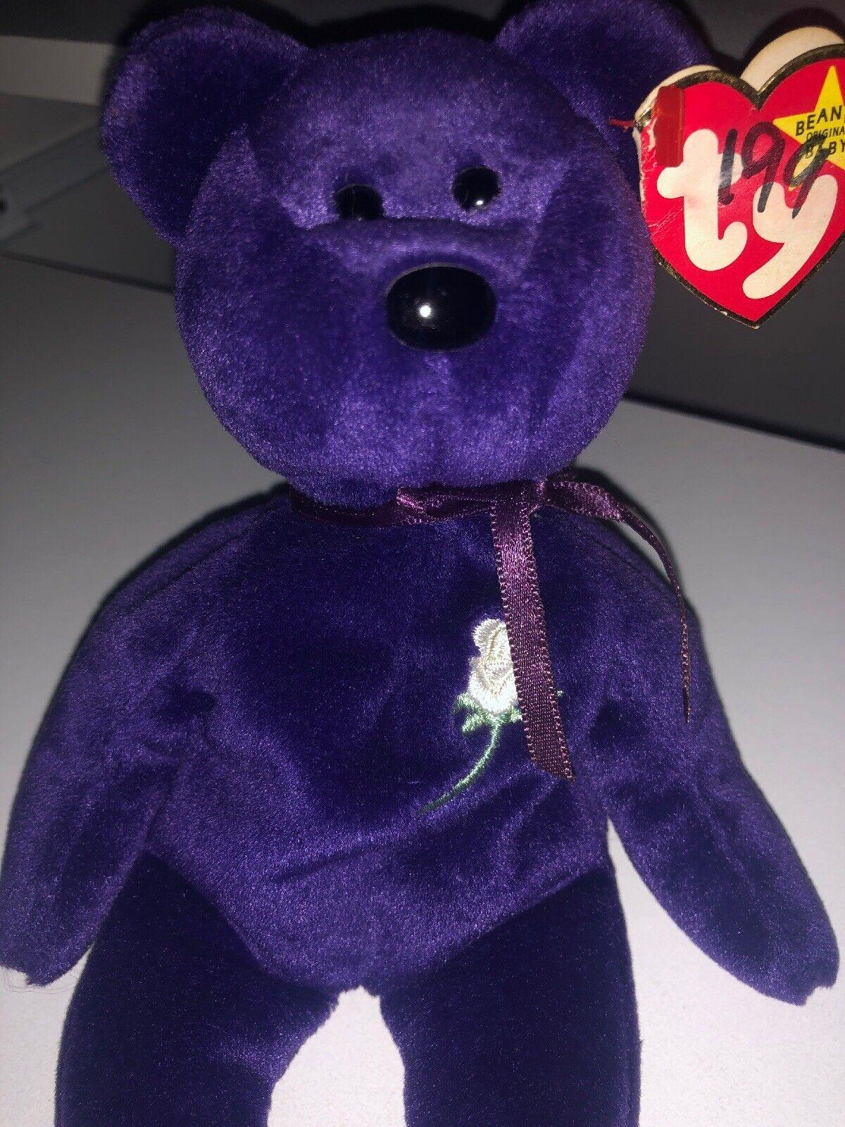 1997 Princess Princess Princess Diana Bear Retired Ty Beanie PE 1b039a