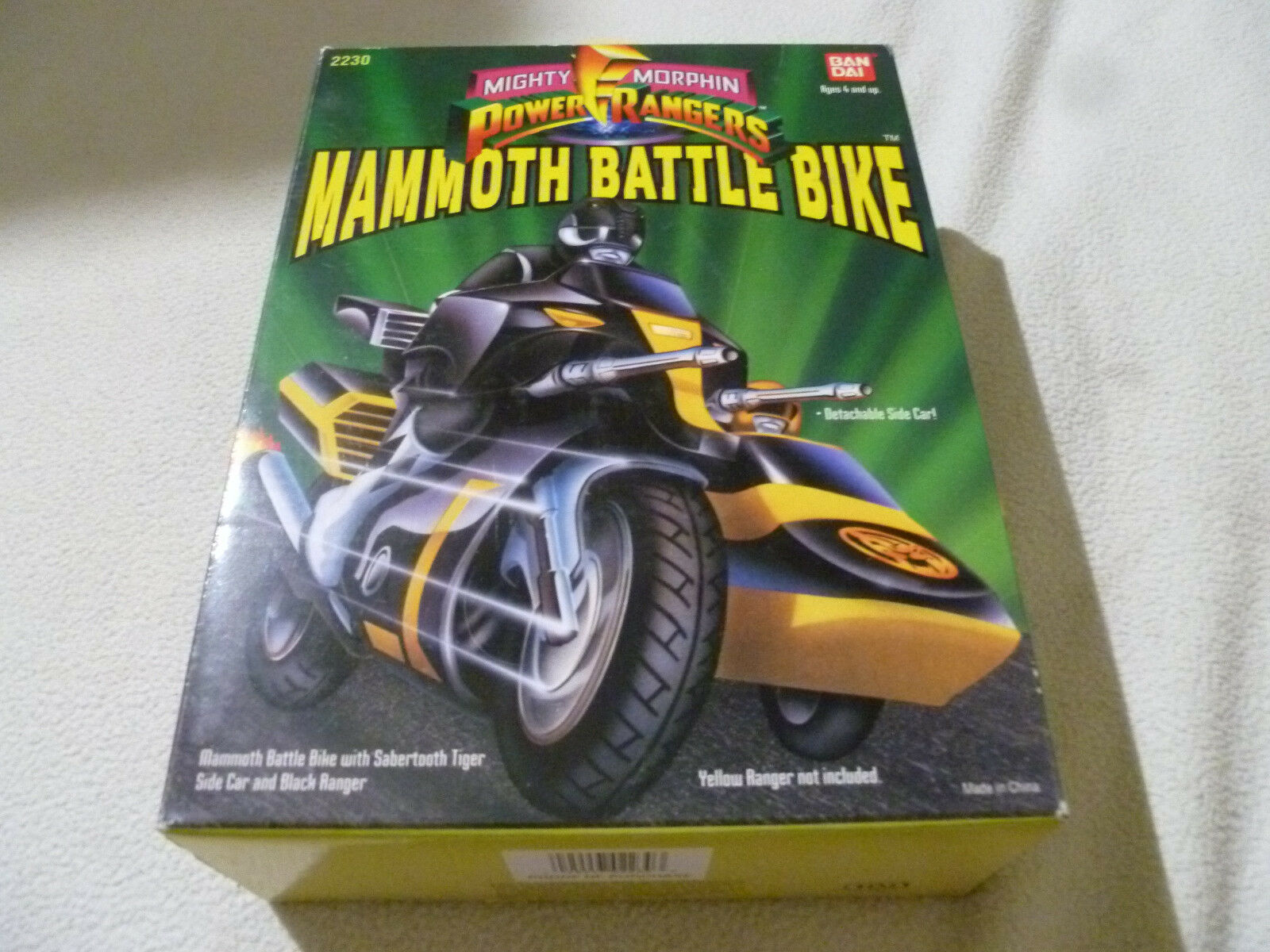 NEW IN BOX MIGHTY MORPHIN POWER RANGERS MAMMOTH BATTLE BATTLE BATTLE BIKE BANDAI 2230 NIB 1993 1649a3