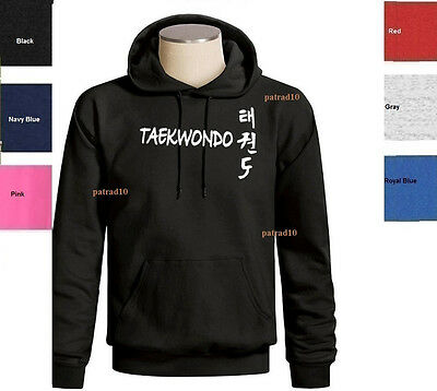 Taekwondo Sweatshirt Korean Martial Art Fighting  ombat Sport Hoodie SZ S-3XL