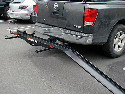 Sport Bike Motorcycle Carrier Truck pick up hauler hitch rack trailer cargo ramp