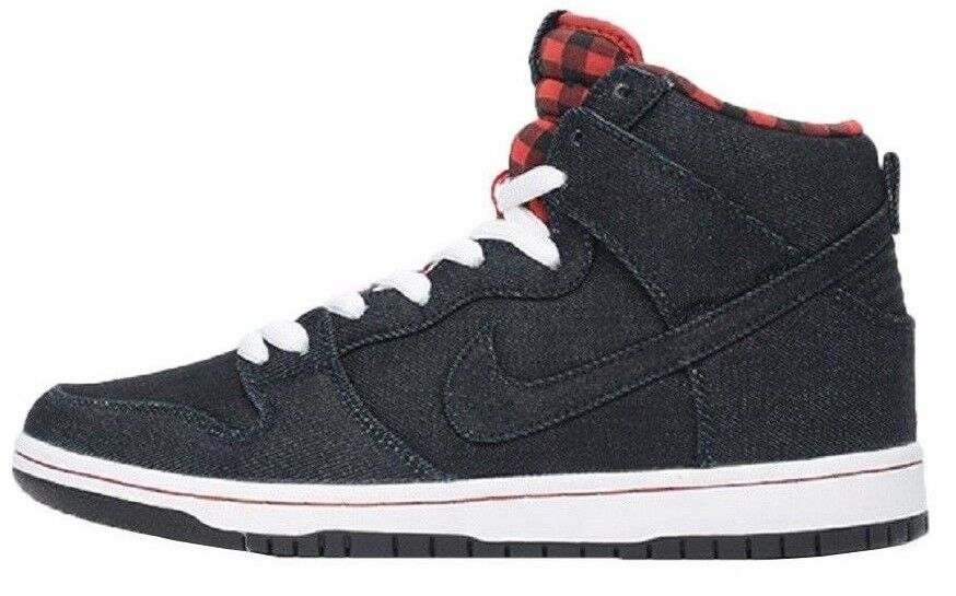Nike DUNK HIGH PREMIUM SB Dark Obsidian Lumberjack Discounted (605) Men's shoes