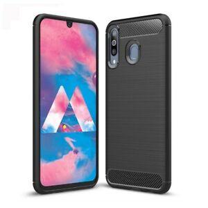 Détails sur Coque en Fibre de Carbone Samsung Galaxy M30 (M305F) - Noir