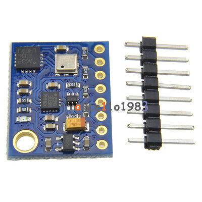 10DOF L3GD20 LSM303D BMP180 Gyro Accelerometer Compass Altimeter For Arduino AL