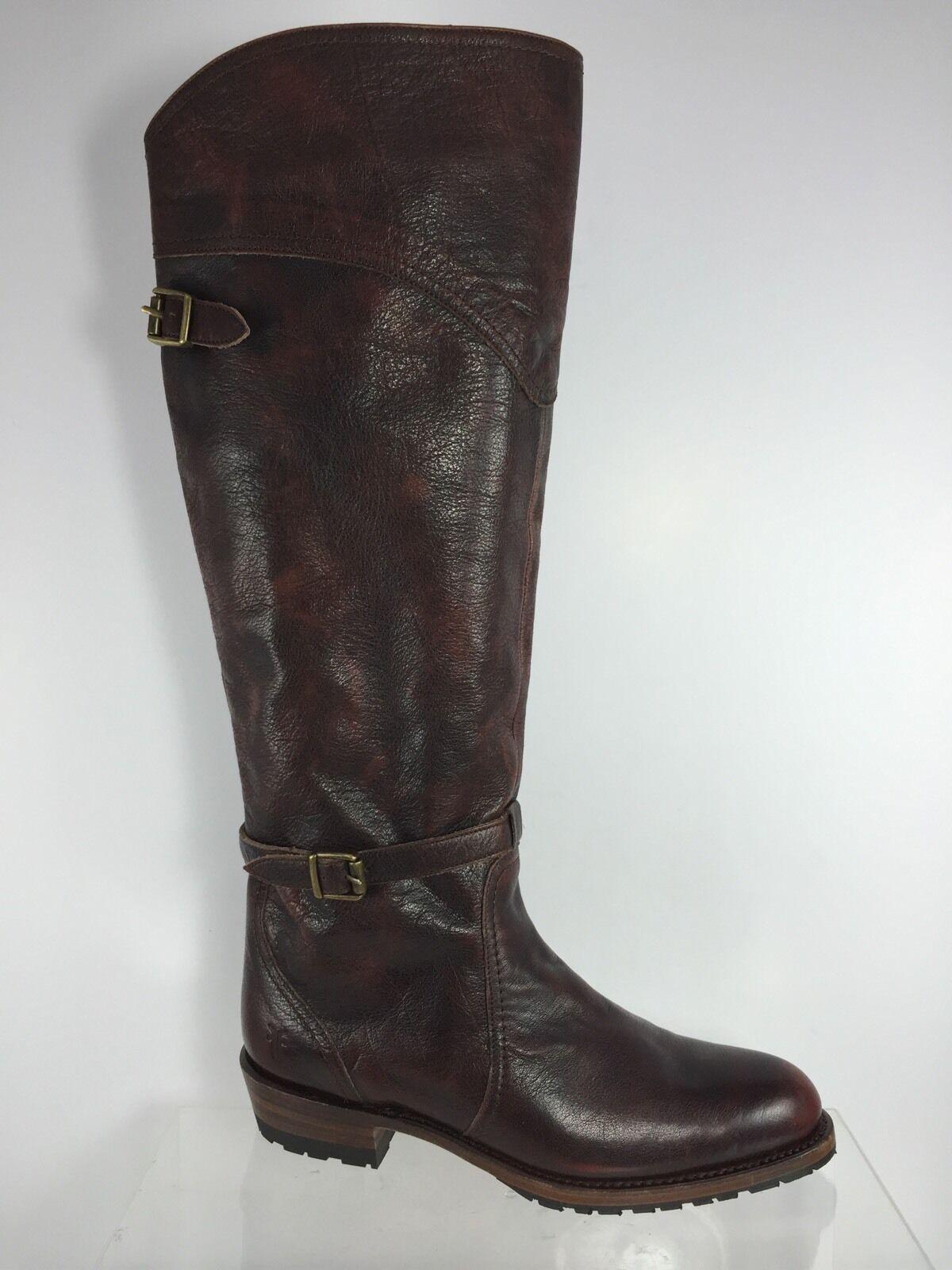 Frye damen Dark Burgundy Leather Knee Stiefel 8