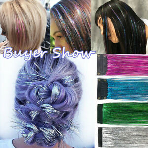 Clip-in-Hair-Tinsel-Sparkle-Holographic-Glitter-Extensions-Dazzles-Partystyle