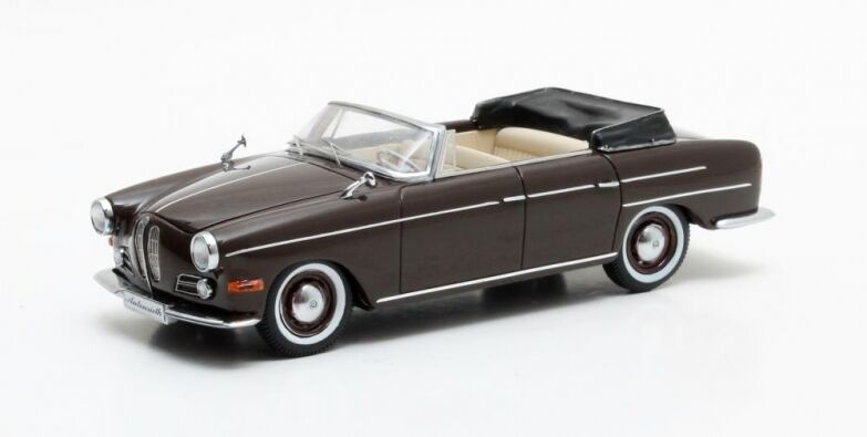 BMW 502 3200 V8 Super cabriolet marron métallisé 1959   Matrix 1 43