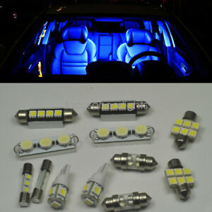 Image Is Loading 12pcs Led Xenon Blue Lights Interior Package Kit