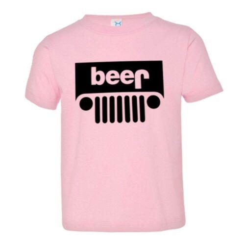 Toddler Jeep Beer Upside Down Logo HQ Tee Shirt