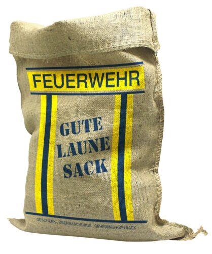 Jutesack 136 x 56 cm jutesäcke con presión bomberos-buen humor saco 70511