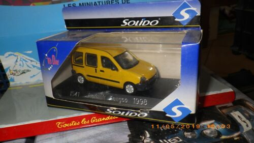 SOLIDO 1//43 REF 1541 RENAULT KANGOO MOUTARDE 1998 Neuf EN Boite