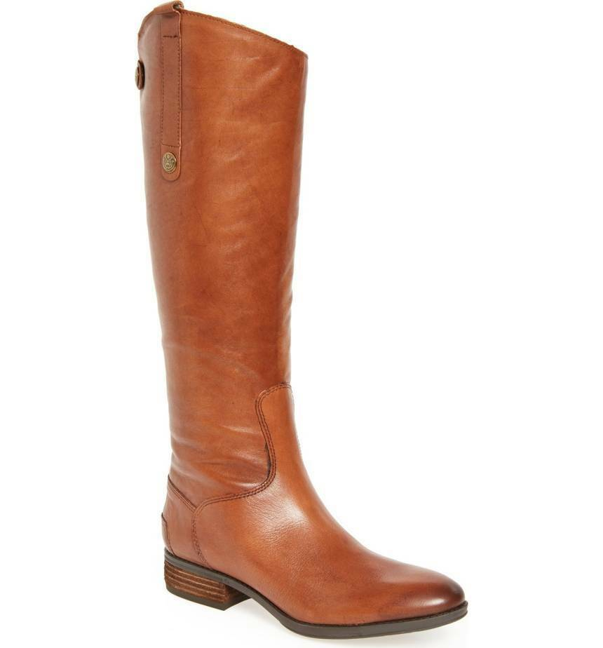 Sam Edelman Penny Knee High Boots Whiskey Ladies Sz 6.5 New $149