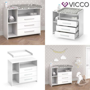 Vicco Wickelkommode Oskar Weiss Baby Wickelregal Babymobel Kommode