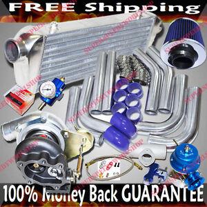 GT28-Universal-Turbo-Kits-2-5-034-Intercooler-Piping-BOV-Fuel-Regulator-Air-Filter