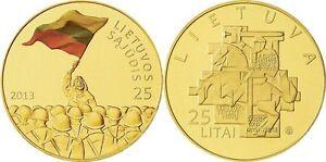 Lithuania-25-litai-2013-034-Establishment-of-the-Lithuanian-S-j-dis-034-PROOF-LIKE