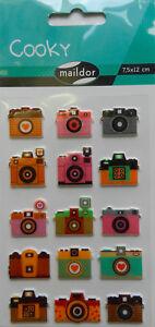 3D-Sticker Maildor 36 tlg Sticker Set Cooky Kinder 7,5x12cm