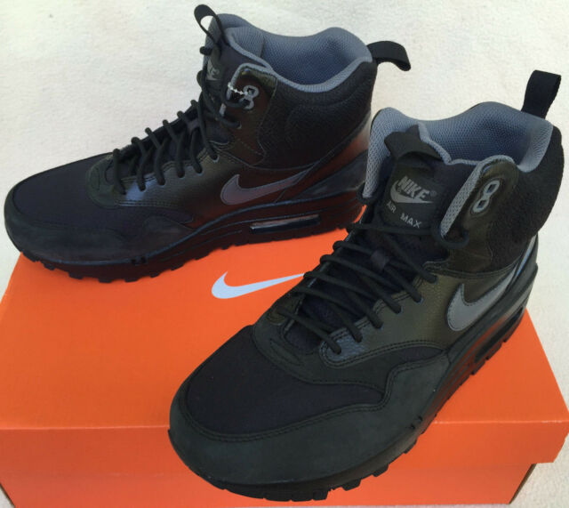 3337d5582cb85a Nike Air Max 1 Mid Sneakerboot WP 685267-001 Black Grey Shoes BOOTS Women s  8.5 for sale online