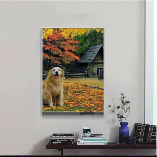 Autumn Dog 5D Full Drill Diamond Painting  Cross DIY Stitch Kits Art Wall Decors