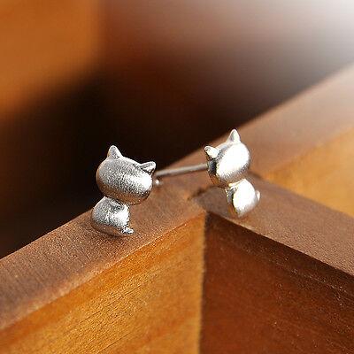 1Pair Women Silver Cute Deer Snowflake Ear Stud Earrings Christmas Jewelry Gift