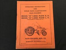 Allis Chalmers G 1 Disc Plow Rhlh Operating Manual