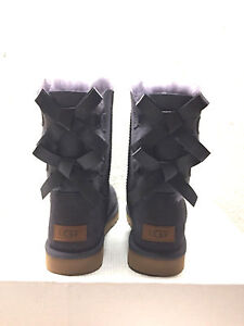 Image is loading UGG-CLASSIC-SHORT-BAILEY-BOW-II-NIGHTFALL-WOMEN-