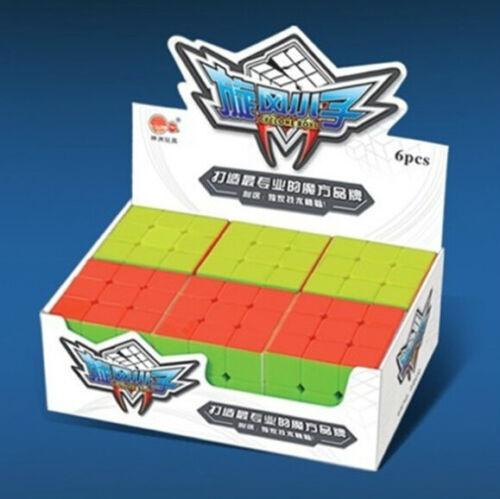 New Cyclone Boys Stickerless Magic Cube FeiWu 3x3 Speed cube 3x3x3 6pcs Pack