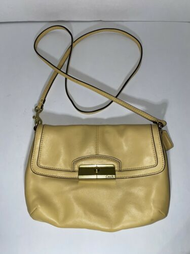 Coach Vintage Yellow Crossbody  Bag Shoulder Gold