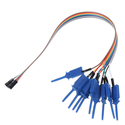 10pcs 300mm Test Hook Clip Logic Analyzer Cable Gripper Probe Test Clamp WH